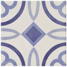 Merola Tile Atelier Azul Marais 5-7/8 in. x 5-7/8 in. Ceramic Floor and Wall Tile (5.73 sq. ft. / case), Azul/Medium Sheen