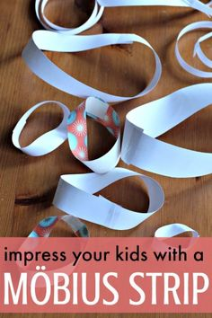 """Math art with a Mobius strip! So fun for kids. may be more like a kindergarten or higher math but still would be fun even if my kiddo doesn't understand of whats going on! And she just might surprise me (as she often does since she doesn't like """"testing). Math Activities For Kids, Math For Kids, Fun Math, Kids Learning, Maths, Science Ideas, Math Class, Teamwork Activities, Kid Science"""