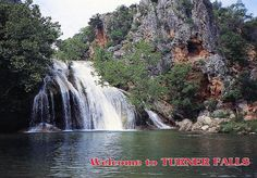 Turner Falls in the Oklahoma Arbuckle Mountains