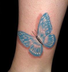 3D butterfly tattoo 18 - 65 3D butterfly tattoos  <3 <3