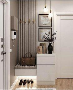 Home Room Design, Interior Design Living Room, Living Room Designs, House Design, Hall Interior, Apartment Interior, Apartment Design, Flur Design, Home Entrance Decor