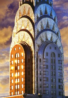 Mitchell Funk - Chrysler Building Art Deco Skyscraper