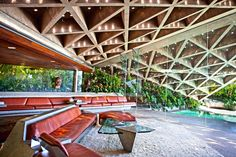 A Look Inside John Lautner's Historic Sheats-Goldstein House donated to LACMA and will be  open someday for tours.