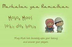 Marhaban yaa Ramadhan..mohon maaf lahir  bathin