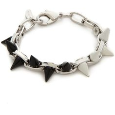 Joomi Lim Monochrome Mania Spike Bracelet - Mixed Spikes ($73) ❤ liked on Polyvore