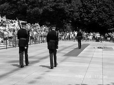 Changing of the guard at the Tomb of the Unknown Soldier Washington DC, Arlington Cemetery