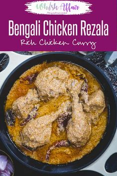 Chicken Rezala is a very famous Bengali recipe which has a Mughlai Origin. Quintessentially, it is a chicken gravy which is white, unlike other chicken curry dishes, and is extremely flavorful with very delicate flavors. So, here is to make Chicken Rezala Fried Fish Recipes, Veg Recipes, Cooker Recipes, Bangladeshi Food, Bengali Food, Rajasthani Food, Indian Chicken Recipes, Indian Food Recipes, Bengali Chicken Curry Recipe