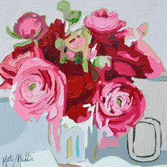 Painting by Kate Mullin. 14x14. Oil Painting. $400. www.katemullinart.com  Art Floral Painting