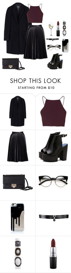 """""""moonlight"""" by shay-the-turtle on Polyvore featuring MSGM, Topshop, Cusp by Neiman Marcus, Jimmy Choo, Fallon, Aéropostale, MAC Cosmetics and Riedel"""