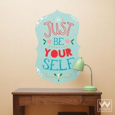 Be Yourself WallPrint™ Wall Sticker Fabric Decal Typography Inspirational Positive Message Quote for Room Decor and Dorms | Wallternatives