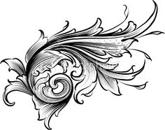 View top-quality illustrations of Shaded Acanthus. Find premium, high-resolution illustrative art at Getty Images. Filigree Design, Leaf Design, Sculpture Ornementale, Rosas Vector, Filigree Tattoo, Leather Tooling Patterns, Baroque Pattern, Scroll Pattern, Gravure