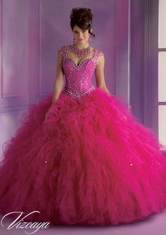 This dazzling bodice has a sweetheart top with straps and a big tulle bottom, and it's at Rsvp Prom and Pageant, your source of the HOTTEST Dresses!
