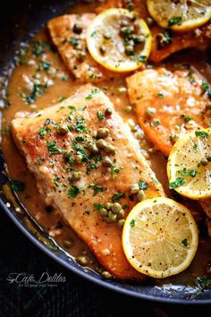 Easy Salmon Piccata | http://cafedelites.com