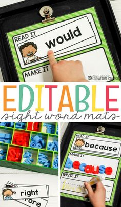 Free printable and editable sight word mats you need for your beginning readers. Each young reader must learn sight words during their journey in learning to read. Use this great resource as a literacy assessment or just a great learning activity for your students. #activities #sightwords #learning #readingassessment #reading #literacy