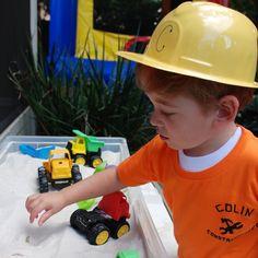 construction birthday sand box
