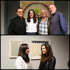 """Bono from U2 and Ali Hewson at the launch of their niece, Leah Hewson, new art exhibition called """"CUSP"""" at the Picture Room on Wellington Quay next to the Clarence Hotel in Dublin, Ireland on October 17, 2013.  #u2NewsActualite #u2NewsActualitePinterest #u2 #bono #PaulHewson #music #rock #AliHewson #AlisonHewson #picture #2013 #LeahHewson #dublin #ireland #irish #NormanHewson  http://u2yness.tumblr.com/post/64365346447/bono-and-ali-at-the-launch-of-their-niece-leah"""
