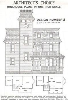 DHM4378 - DOLLHOUSE PLAN #3 (MNL1003)