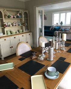 Dining area with a splash of colour from Denby