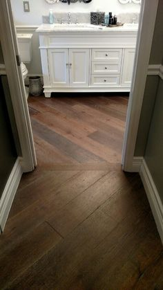Changing direction of wood flooring