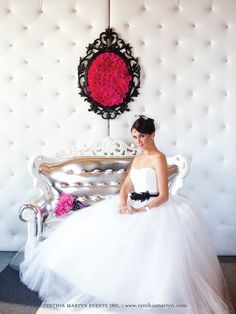 NOT the dress, but the WALL, AND LOVESEAT!