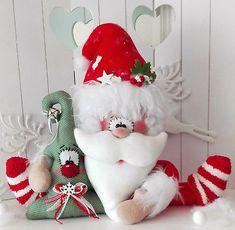 XXL Weihnachtsmann mit süßer TanneWeihnachtenTilda- ArtAdventLandhaus