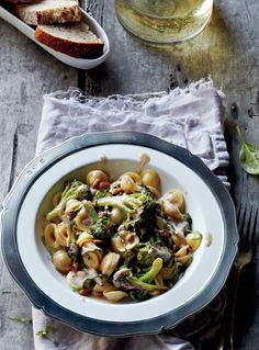 Orecchiette with Brown Butter, Broccoli, Pine Nuts, and Basil
