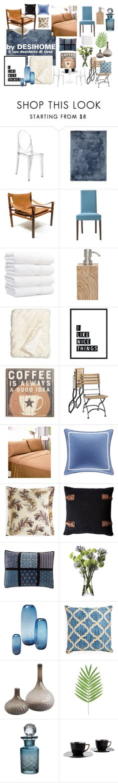 """""""home staging blu nero cuoio"""" by deboradimichele on Polyvore featuring interior, interiors, interior design, Casa, home decor, interior decorating, Kartell, Norell, Dolce Vita e Pigeon & Poodle"""