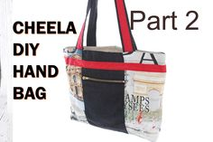 Cheela Version 2b / with zip pouch and lining, bias binding detail