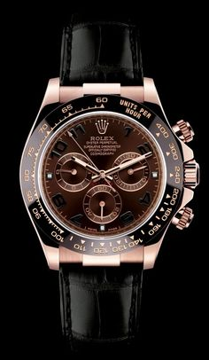 Rolex - Rose gold and gator strap Daytona