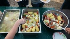 Milk Can Stew. This is an awesome meal to feed a crowd on a camping trip.