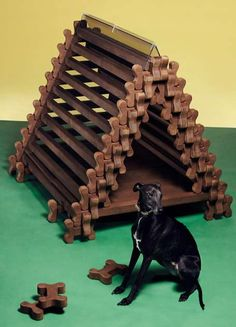 The 'Happy Dog Retreat' is Every Puppy's Dream Home #uniquefurniture #differenthomedecor