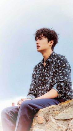 Lee Min Ho News, Button Down Shirt, Men Casual, Sea, Mens Tops, Blue, Fashion, Artists, Moda