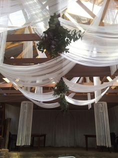 Hanging bouquets at ceremony!  Flowers by Vergeet - My - Nie www.vergeetmynieflorist.co.za