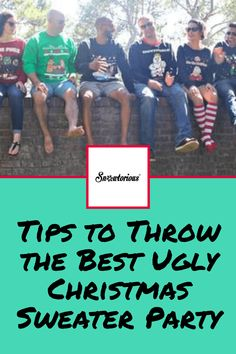 Tips to Throw the Best Ugly Christmas Sweater Party Funny Christmas Outfits, Best Ugly Christmas Sweater, Christmas Party Themes, Christmas Ideas, New Year's Crafts, Pure Joy, Mothers Day Crafts, Bliss, Happiness