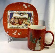 Natale e Porcellane: Piattini e tazze Mug