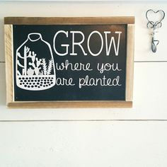 New signs listed // grow // farmhouse signs // cactus //  cactus gifts //