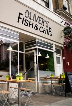 GF Fish and Chips on Wednesdays! Oliver's Fish and Chips is the best chips shop in my area, honestly, perhaps the best home made chips I have ever had in the UK! It is half way between Chalk farm and Belsize park tube stations, 95 Haverstock Hill London
