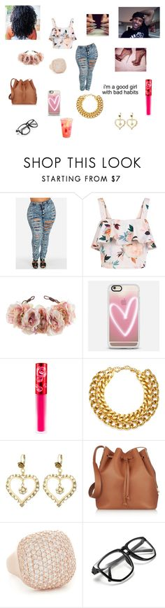 Trey Songs by queenraina1 on Polyvore featuring New Look, Sophie Hulme, Betsey Johnson, A.V. Max, Bronzallure, Casetify, Rock 'N Rose and Lime Crime