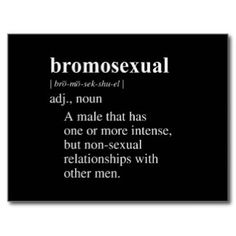 BROMOSEXUAL DEFINITION.