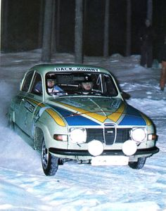 Stig Blomqvist - Hans Sylvan (Saab 96 V4) rallye de Suède 1976 - L'Automobile avril 1976.