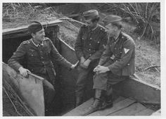 German soldiers in front of the bunker