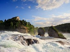 You might know some of the world's most famous waterfalls, like Niagara and Victoria, but what about Kaieteur Falls or Gullfoss? Here are 15 of our favorite cascades (and their respective heights) from around the globe. Famous Waterfalls, Beautiful Waterfalls, Rhine Falls Switzerland, Places To Travel, Places To Visit, Rhine River Cruise, European Road Trip, Les Cascades, Voyage Europe