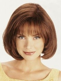 The Super Top Human Hair Wig by Louis Ferre is a monotop half oval shape with 3 clips. It gives a natural lift to your hair and blends beautifully. Short Hair With Layers, Long Hair Cuts, Short Wavy, Short Bob Hairstyles, Hairstyles With Bangs, Medium Hair Styles, Short Hair Styles, Thin Hair Updo, Chin Length Hair