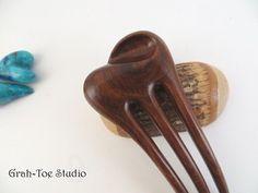 Genuine LIgnum Wood Dune Mini Hair Fork Grahtoe by grahtoestudio