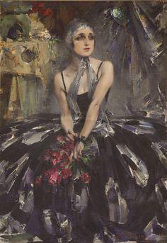Ballerina Vera Fokina (1927). Nicolai Fechin (Russian-American, 1881-1955). Martin Museum of Art (MMoA), Baylor University.