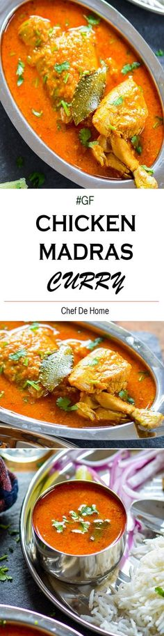 Indian Chicken Madras Curry - Famous as Chicken Madras, this Indian chicken curry has delicious flavor of madras curry powder, tamarind, and coconut milk. Gluten Free