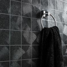 Buy Twilight Glitter Black Tile Kitchen And Bathroom Wallpaper by Graham & Brown from our Wallpaper range - Black - @ Home Image DIY LDT