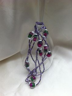 Indian glass beaded necklace by sparkles4life on Etsy, $9.94