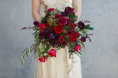 Vintage Autumn Wedding Bridal Bouquet