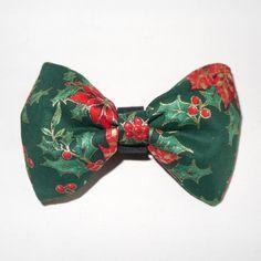 Christmas Dog Bow Tie, Pet Bow Tie, Bowtie, Collar Attachment, Ilex aquifolium, poinsettia, star of Bethlehem by PSIAKREW on Etsy